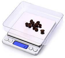 Ювелирные электронные весы MH-267 с 2-мя чашами 0,1-2000 грамм