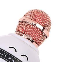 Бездротовий мікрофон-караоке WSIER WS-878 Біло-рожевий, фото 3