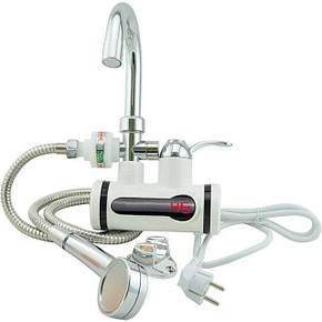 Проточний водонагрівач з душем MHz MP5201 3000 Вт на кран, фото 2