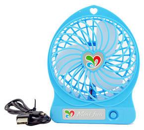 Вентилятор настольный Dellta USB DR-1501 с встроенным аккумулятором Blue, фото 2
