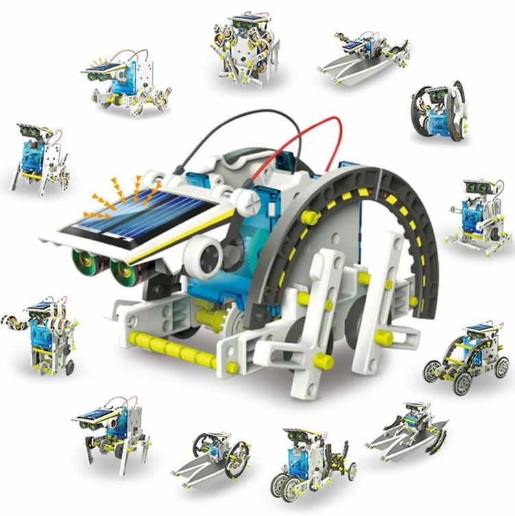 Конструктор на солнечных батареях Solar Robot робот 14 в 1