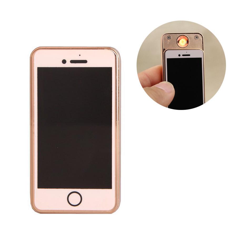 Электроимпульсная USB зажигалка UKC Iphone