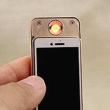 Электроимпульсная USB зажигалка UKC Iphone, фото 3