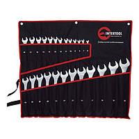 ✅ Набор рожково-накидных ключей в чехле 25 шт, 6-32 мм INTERTOOL HT-1200