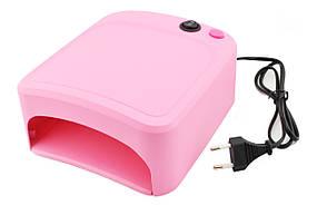 УФ лампа для ногтей 36Вт сушилка для ногтей с таймером ZH-818A розовый