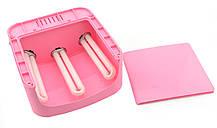 УФ лампа для ногтей 36Вт сушилка для ногтей с таймером ZH-818A розовый, фото 2