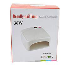 УФ лампа для ногтей 36Вт сушилка для ногтей с таймером ZH-818A розовый, фото 3