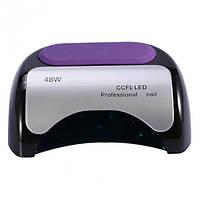 Гибридная CCFL+LED лампа Beauty nail 48W Black