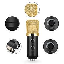 Студийный микрофон Music D.J. M800U со стойкой и ветрозащитой Black/Gold, фото 3