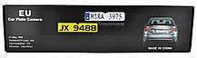 Камера заднего вида в рамке номерного знака A58 с подсветкой серебряный, фото 2