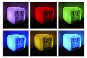 Часы хамелеон CX 508 с термометром, будильником и подсветкой, фото 3