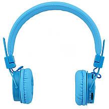 Беспроводные Bluetooth стерео наушники NIA X3 с МР3 и FM Blue, фото 3