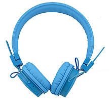 Беспроводные Bluetooth стерео наушники NIA X3 с МР3 и FM Blue, фото 2