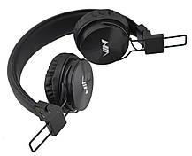 Беспроводные Bluetooth стерео наушники NIA X3 с МР3 и FM Black, фото 2