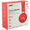 Беспроводные Bluetooth стерео наушники NIA X3 с МР3 и FM Red, фото 3