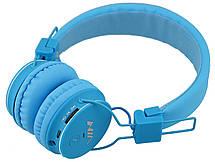 Беспроводные Bluetooth стерео наушники NIA X2 с МР3 и FM Blue, фото 2