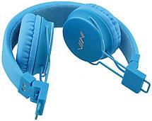 Беспроводные Bluetooth стерео наушники NIA X2 с МР3 и FM Blue, фото 3