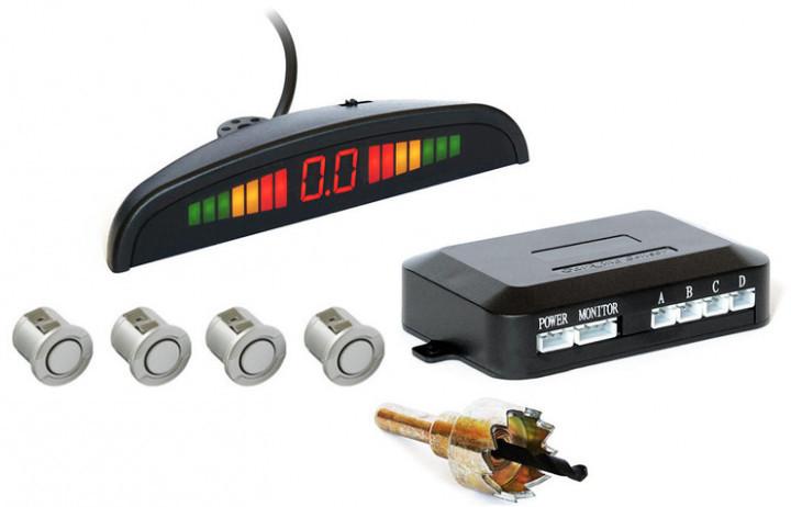 Парктроник автомобильный PAssistant на 4 датчика + LCD монитор Silver