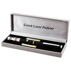 Лазерная указка Laser Green черный 1 насадка, фото 2