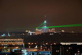 Лазерная указка Laser Green черный 1 насадка, фото 3