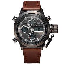 Мужские часы AMST AM3003 темно-коричневые, фото 2