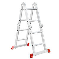 Лестница трансформер алюминиевая 4х2 ступ. 2.38м INTERTOOL LT-0028