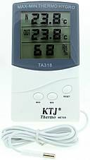 Термогігрометр KTJ ТА-318 з виносним датчиком, фото 2