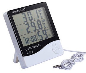 Метеостанция, Часы, Гигрометр, Влагометр Generic HTC-2 (два уровня), фото 2