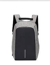 """Рюкзак Antivor c защитой от карманников и с USB зарядным устройством 15"""" Grey, фото 2"""