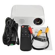 Мультимедийный портативный мини проектор Projector YG320 White, фото 2