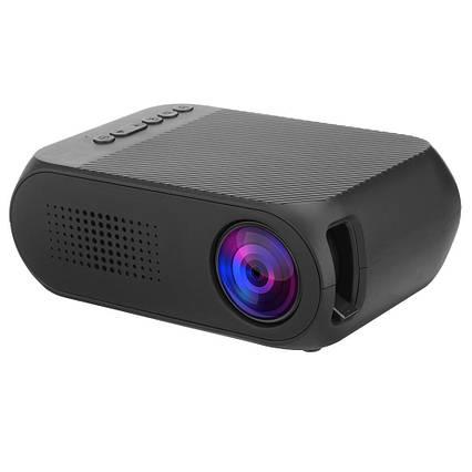 Мультимедийный портативный мини проектор Projector YG320 Black, фото 2