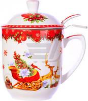 Чашка с заварником Новогодняя коллекция 300 мл 985-080 Lefard