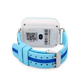 Детские телефон-часы с GPS трекером UWatch Q100 голубые, фото 2