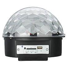 Світломузика диско куля з Bluetooth MP3 + BT (з пультом і флешкою), фото 3