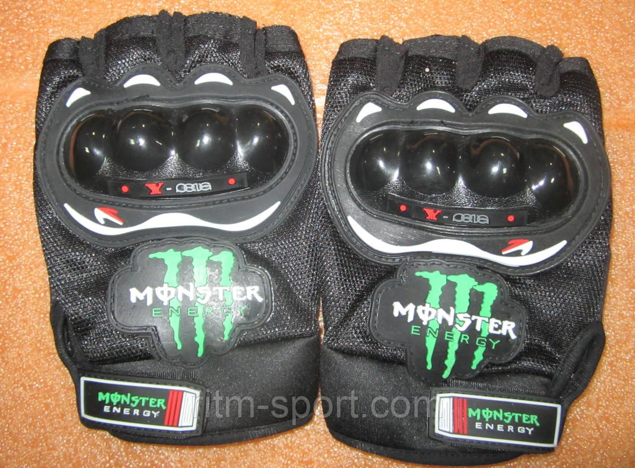 Велоперчатки MONSTER ( с защитой)