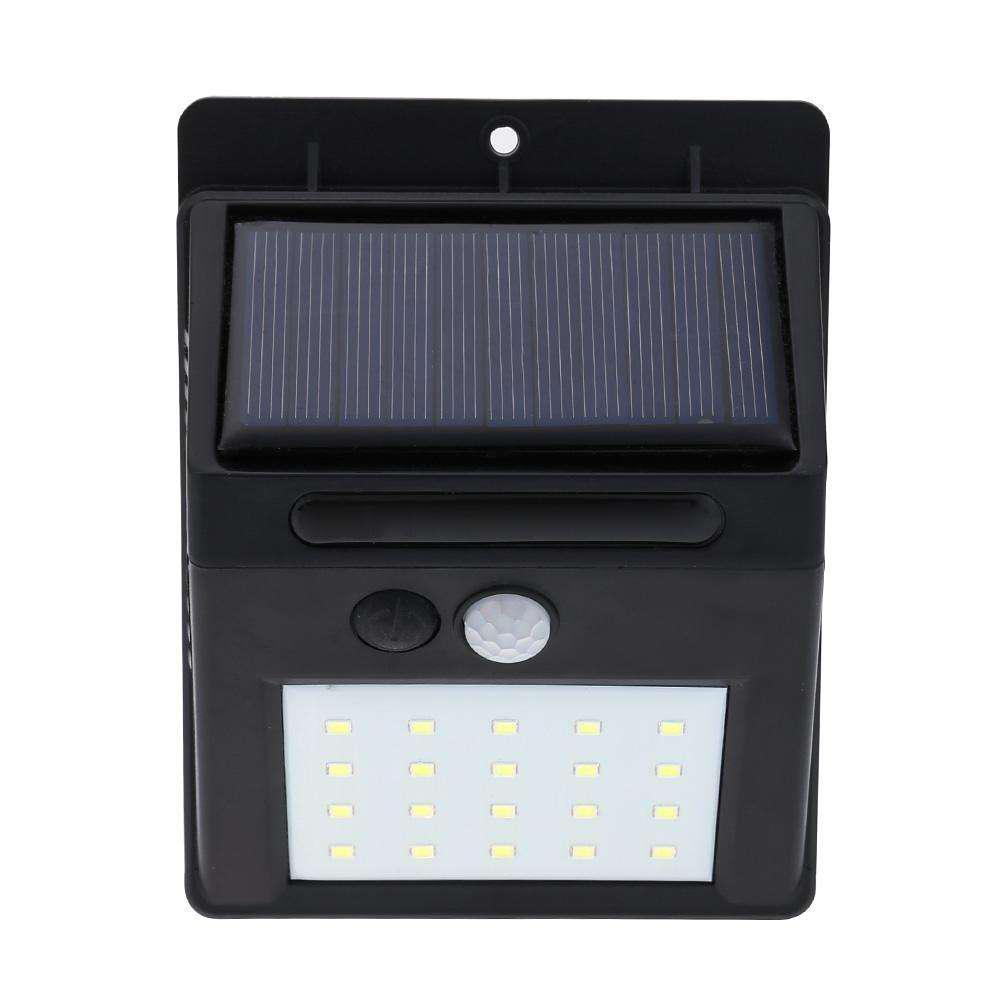 Світильник RavTech SH 609-20 з датчиком руху і сонячною панеллю 20 smd настінний вуличний Black