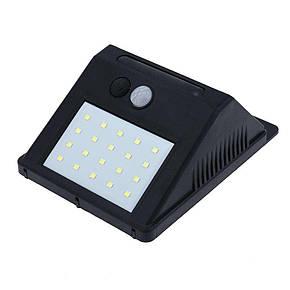 Світильник RavTech SH 609-20 з датчиком руху і сонячною панеллю 20 smd настінний вуличний Black, фото 2