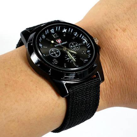 Чоловічі годинники Swiss Army Чорний, фото 2