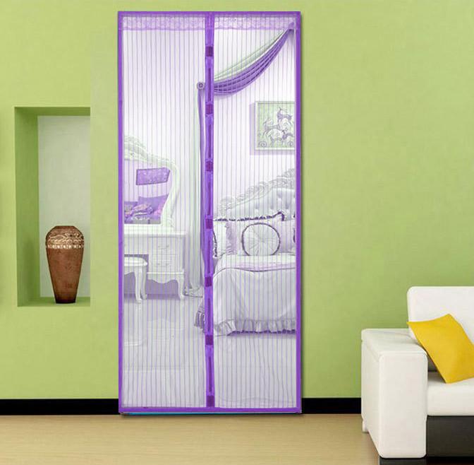 Анти москитная сетка штора на магнитах Magic Mesh Фиолетовый