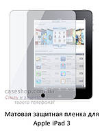 Матовая защитная пленка на Apple iPad 3