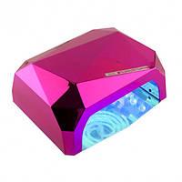 Гибридная ультрафиолетовая CCFL+LED лампа 36W UKC малиновый