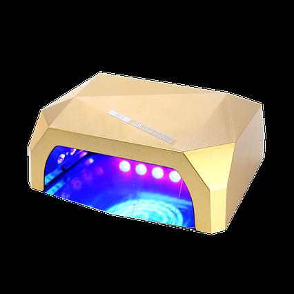 Гібридна ультрафіолетова CCFL+LED лампа 36W UKC Gold, фото 2