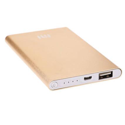 Зовнішній акумулятор Power bank Xiaomi 10000 mAh Gold, фото 2