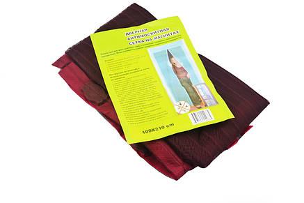 Анти москитная сетка штора на магнитах Magic Mesh Темно-вишневый, фото 2