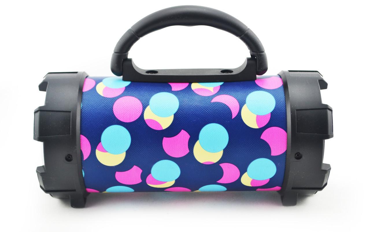 Портативная bluetooth MP3 колонка SPS F18 Разноцветные круги