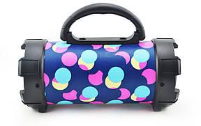 Портативная bluetooth MP3 колонка SPS F18 Разноцветные круги, фото 2