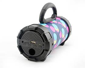 Портативная bluetooth MP3 колонка SPS F18 Разноцветные круги, фото 3