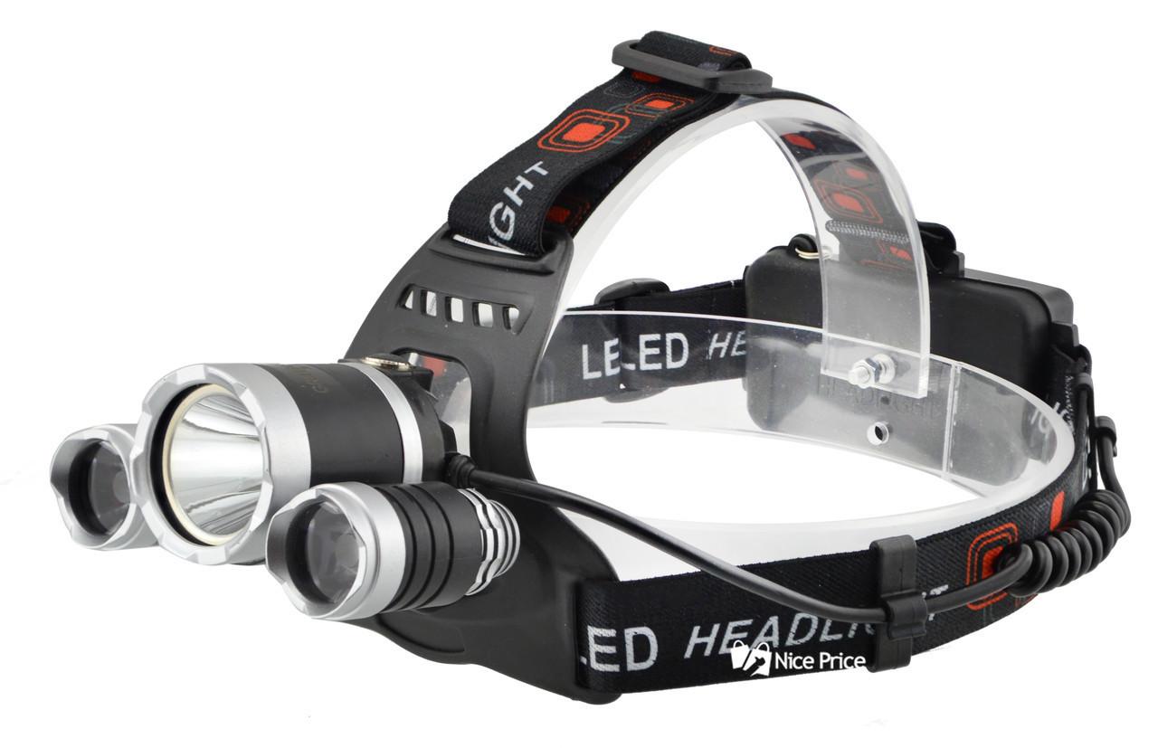 Налобный фонарик BL POLICE RJ3000 3 диода
