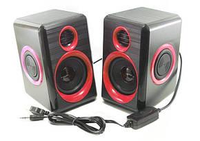 Колонки для ПК комп'ютера F&T FT-165 червоні, фото 2