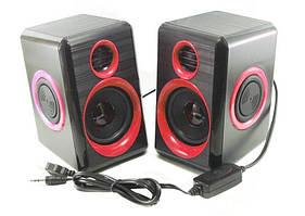 Колонки для ПК компьютера F&T FT-165 красные
